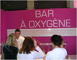 bar à oxygene personnalisable