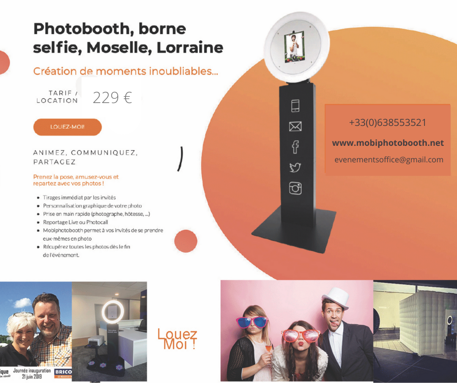 mobiphotobooth, borne selfie, Photo Booth, Photomaton, 2019
