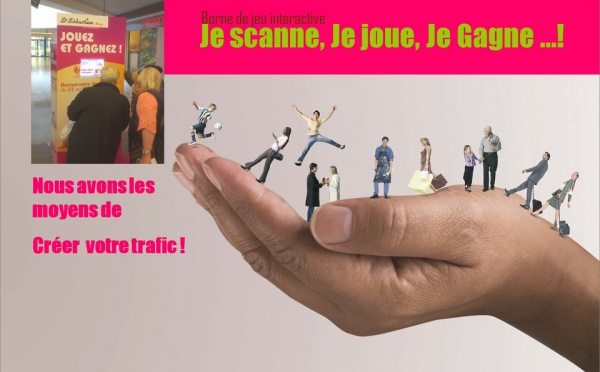 borne de jeu - animations commerciales